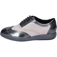 Zapatos Mujer Richelieu Hogan Elegantes Cuero Gris