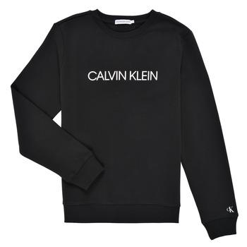 textil Niños Sudaderas Calvin Klein Jeans INSTITUTIONAL LOGO SWEATSHIRT Negro