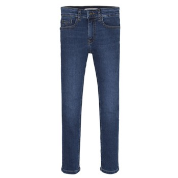 textil Niño Vaqueros slim Calvin Klein Jeans ESSENTIAL ROYAL BLUE STRETCH Azul