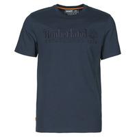 textil Hombre Camisetas manga corta Timberland SS OUTDOOR HERITAGE LINEAR LOGO TEE REGULAR Marino
