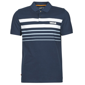textil Hombre Polos manga corta Timberland SS MILLERS RIVER PLACEMENT STRIPE POLO REGULAR Marino / Blanco
