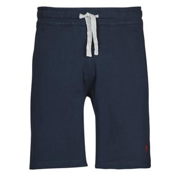textil Hombre Shorts / Bermudas U.S Polo Assn. TRICOLOR SHORT FLEECE Azul