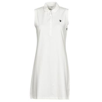 textil Mujer Vestidos cortos U.S Polo Assn. AMY DRESS POLO SLEEVELESS Blanco
