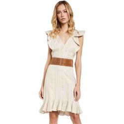 textil Mujer Vestidos cortos Gaudi 011FD15057 Beige