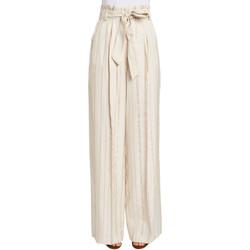 textil Mujer Pantalones fluidos Gaudi 011FD25029 Beige