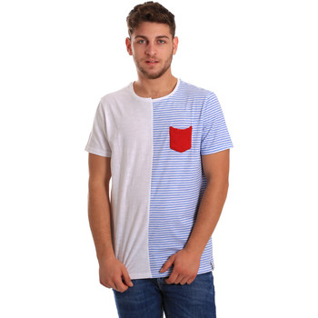 textil Hombre Camisetas manga corta Gaudi 811FU64046 Blanco