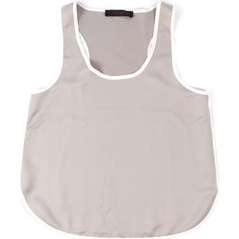 textil Mujer Camisetas sin mangas Café Noir JT002 Gris