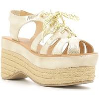 Zapatos Mujer Sandalias Police 883 V70 Oro