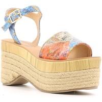 Zapatos Mujer Sandalias Police 883 V60 Azul