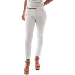 textil Mujer Pantalones chinos Animagemella 16PE003 Blanco