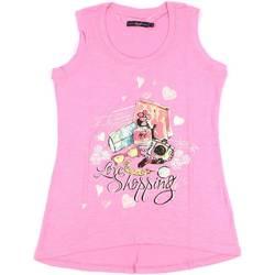 textil Mujer Camisetas sin mangas Key Up S88Z 0001 Rosado
