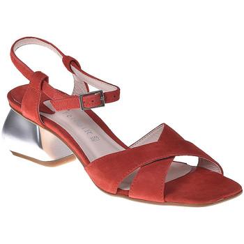 Zapatos Mujer Sandalias Café Noir ME571 Rojo