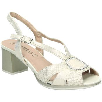 Zapatos Mujer Sandalias Pitillos 5560 Oro