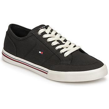 Zapatos Hombre Zapatillas bajas Tommy Hilfiger CORE CORPORATE TEXTILE SNEAKER Negro