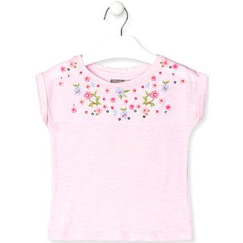textil Niños Camisetas manga corta Losan 016-1003AL Rosado