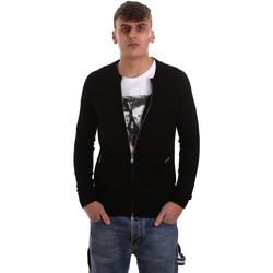 textil Hombre Chaquetas de punto Gaudi 921BU53015 Negro