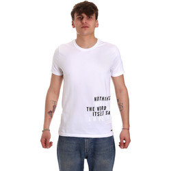 textil Hombre Camisetas manga corta Gaudi 011BU64071 Blanco