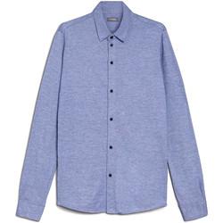 textil Hombre Camisas manga larga NeroGiardini E072300U Azul