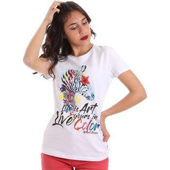 textil Mujer Camisetas manga corta Gaudi 011BD64003 Blanco