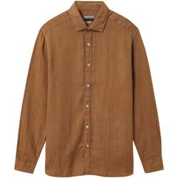 textil Hombre Camisas manga larga Napapijri NP000IL7 Marrón