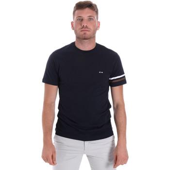 textil Hombre Camisetas manga corta Les Copains 9U9014 Azul