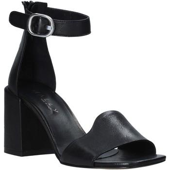 Zapatos Mujer Sandalias Mally 6866 Negro