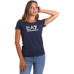 textil Mujer Camisetas manga corta Ea7 Emporio Armani 8NTT63 TJ12Z Azul