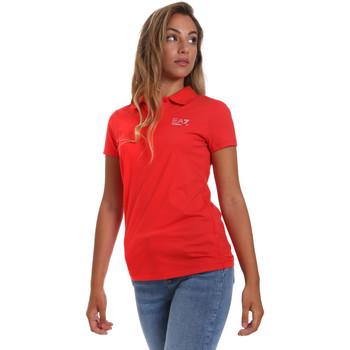 textil Mujer Polos manga corta Ea7 Emporio Armani 3HTF57 TJ29Z Rojo