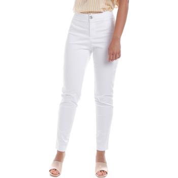 textil Mujer Pantalones chinos NeroGiardini E060100D Blanco