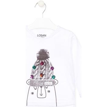 textil Niños Camisetas manga larga Losan 026-1007AL Blanco