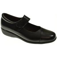 Zapatos Mujer Bailarinas-manoletinas Duendy ZAPATO CUÑA  NEGRO Negro