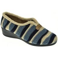 Zapatos Mujer Pantuflas Pinturines ZAPATILLAS SEÑORA  AZUL Azul