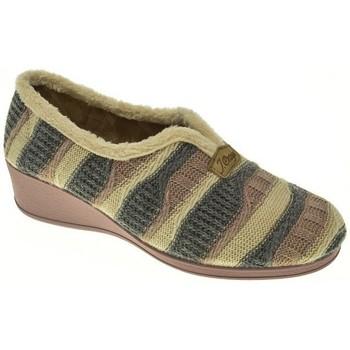 Zapatos Mujer Pantuflas Pinturines ZAPATILLAS SEÑORA  GRIS Gris