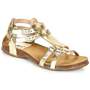 Zapatos Mujer Sandalias Kickers ANA Oro