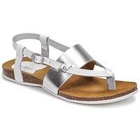 Zapatos Mujer Sandalias Kickers ANAGRAMI Blanco / Plateado