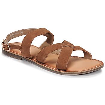 Zapatos Mujer Sandalias Kickers DIBA-2 Camel