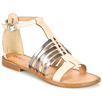 Zapatos Mujer Sandalias Kickers ETIKET Rosa / Metal / Plateado