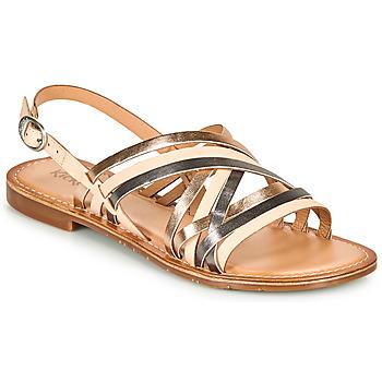 Zapatos Mujer Sandalias Kickers ETRUSK Rosa / Metal / Plateado