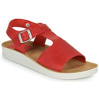 Zapatos Mujer Sandalias Kickers ODILOO Rojo