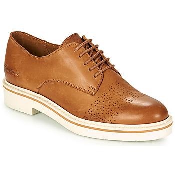 Zapatos Mujer Derbie Kickers OXFORK Camel