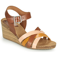 Zapatos Mujer Sandalias Kickers SOLYNIA Rosa / Marrón / Amarillo