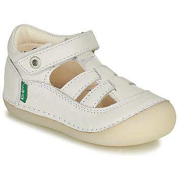 Zapatos Niña Bailarinas-manoletinas Kickers SUSHY Blanco