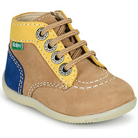 Zapatos Niño Botas de caña baja Kickers BONZIP-2 Beige / Amarillo / Marino