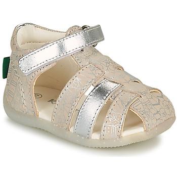 Zapatos Niña Sandalias Kickers BIGFLO-2 Plata