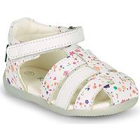Zapatos Niña Sandalias Kickers BIGFLO-2 Blanco
