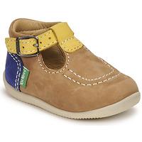Zapatos Niño Sandalias Kickers BONBEK-2 Beige / Amarillo / Marino