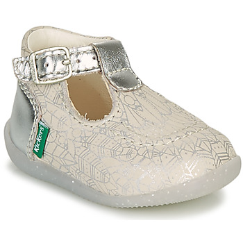 Zapatos Niña Bailarinas-manoletinas Kickers BONBEK-2 Plata