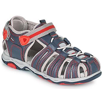 Zapatos Niño Sandalias Kickers KAWA Marino / Rojo