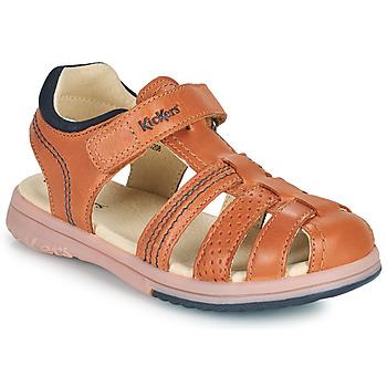 Zapatos Niño Sandalias Kickers PLATINIUM Camel