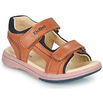 Zapatos Niño Sandalias Kickers PLATINO Camel